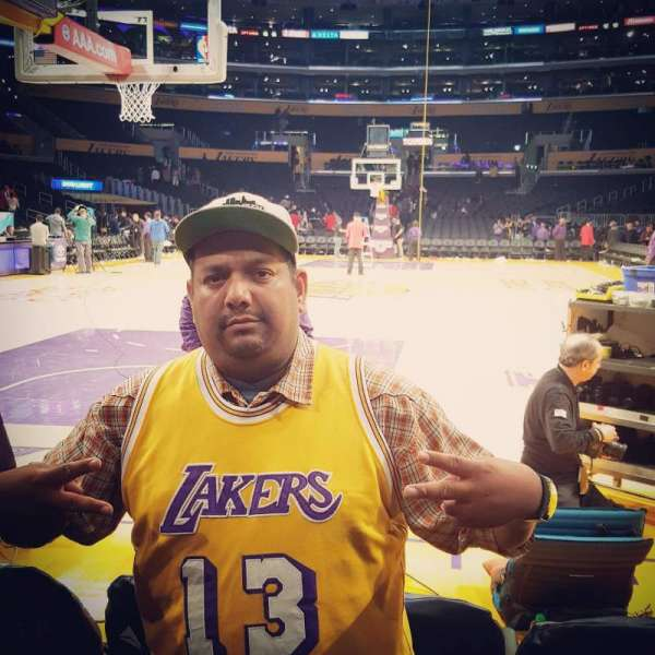 Staples Center, section: 115, row: AA, seat: 4