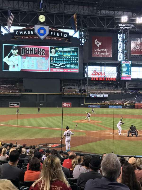 Chase Field, section: K, row: M, seat: 12