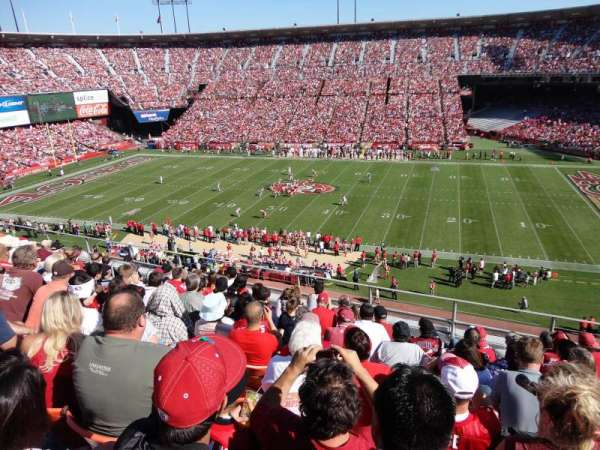 Candlestick Park, section: UR18, row: 1, seat: 10