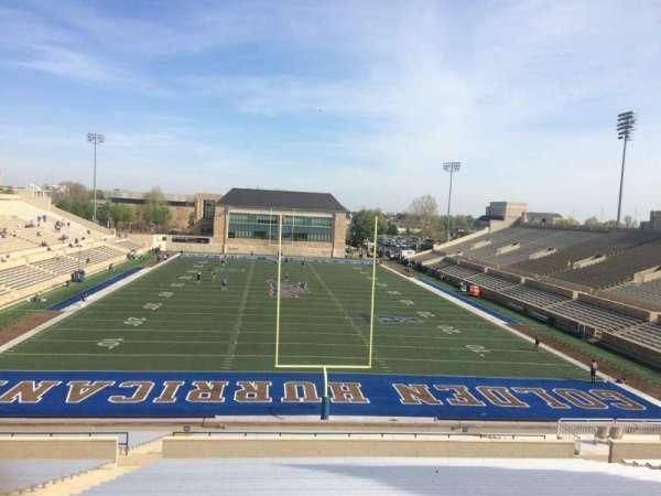 H. A. Chapman Stadium, section: 111, row: 45, seat: 22