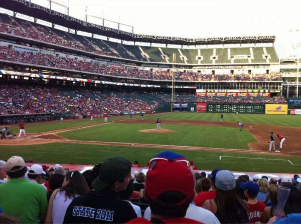 Globe Life Park in Arlington, section: 33, row: 16, seat: 8