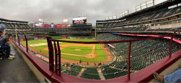 Globe Life Park in Arlington, section: 222, row: 1, seat: 9