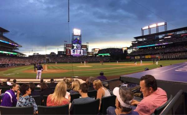 Coors Field, section: 126, row: 4, seat: 2