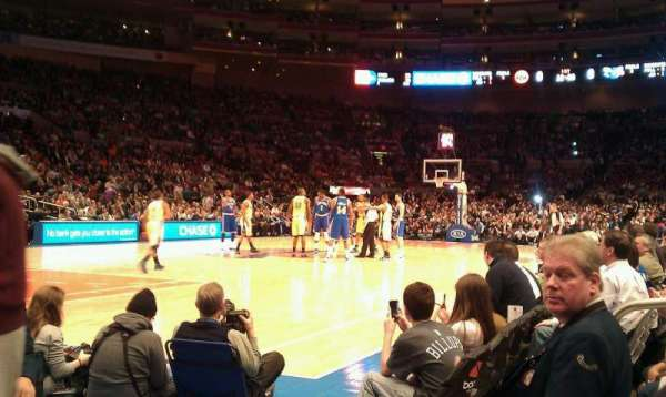 Madison Square Garden, section: 109, row: 1, seat: 13