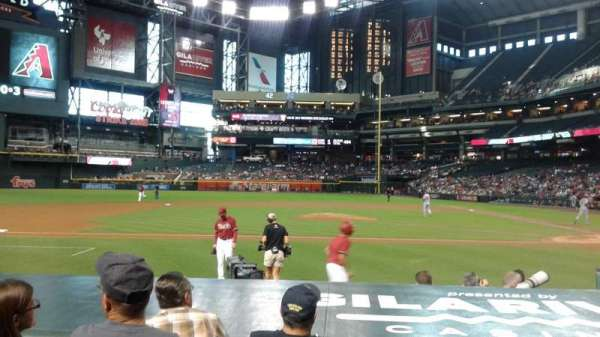Chase Field, section: Dugout n, row: 10, seat: 6