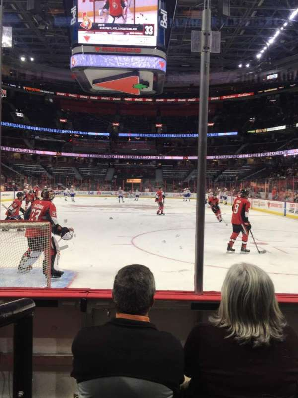 Canadian Tire Centre, section: 101, row: C, seat: 3, 4