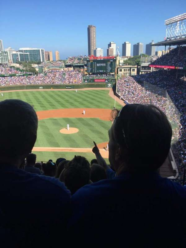 Wrigley Field, section: 313L, row: 10, seat: 15