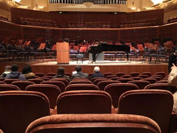 Davies Symphony Hall, section: Orchestra, row: J, seat: 105