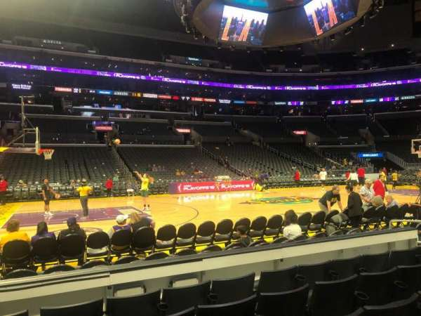 Staples Center, section: 112, row: 5, seat: 13