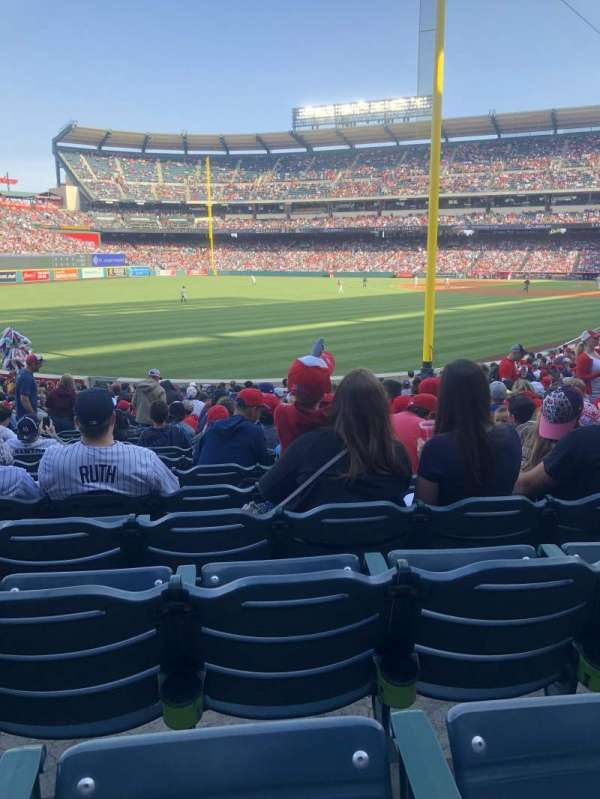 Angel Stadium, section: F102, row: X, seat: 15
