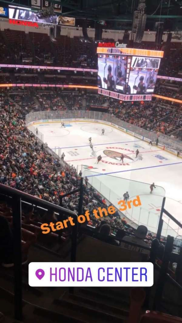 Honda Center, section: 405, row: H, seat: 12