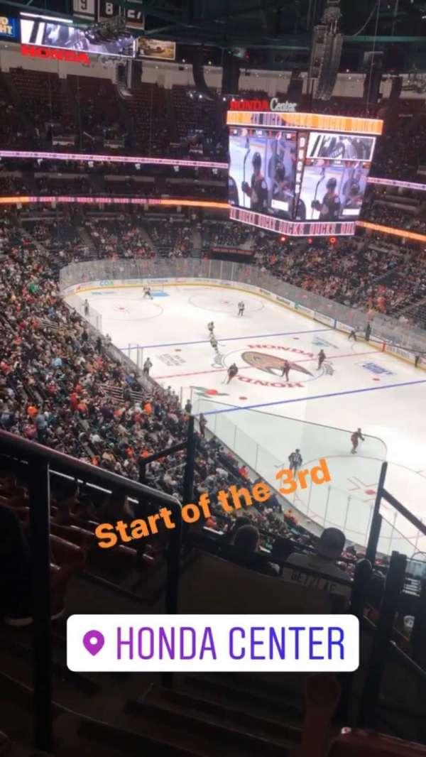 Honda Center, section: 405, row: H, seat: 12