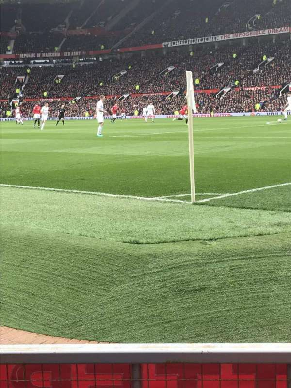 Old Trafford, section: E132, row: CC, seat: 20