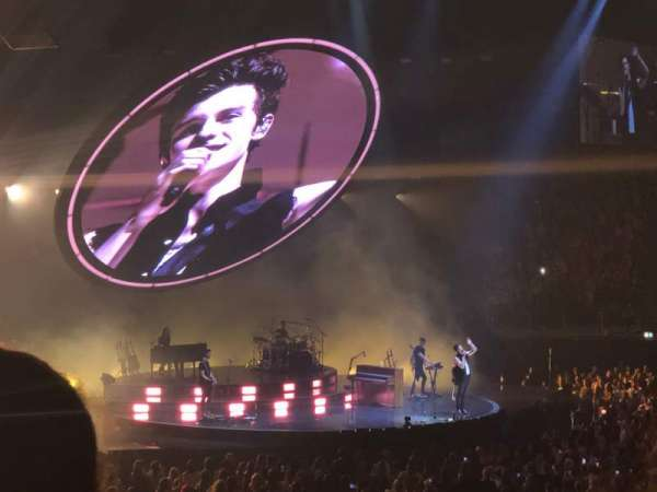 The O2 Arena, section: 102, row: R, seat: 73
