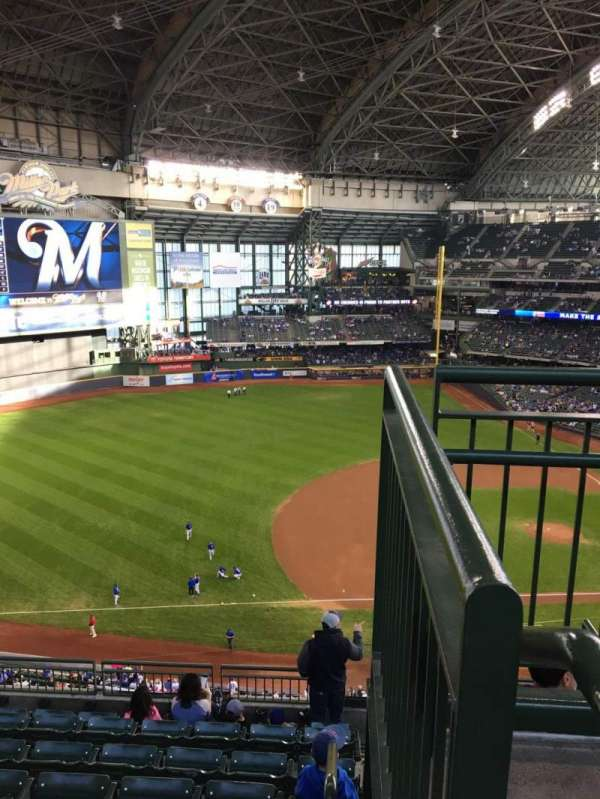 Miller Park, section: 431, row: 8, seat: 1