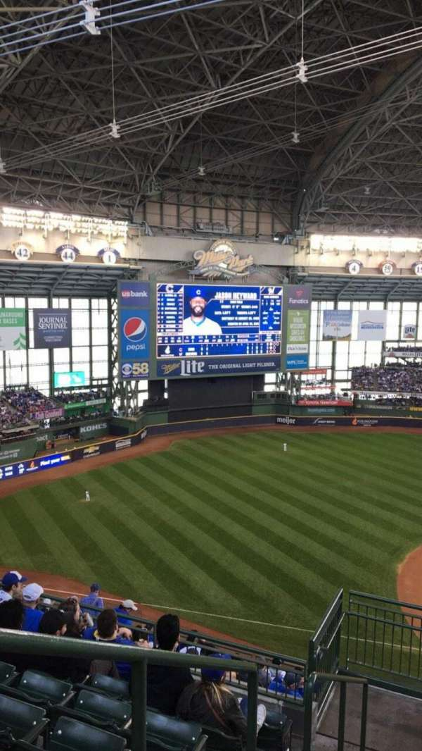 Miller Park, section: 430, row: 14, seat: 20