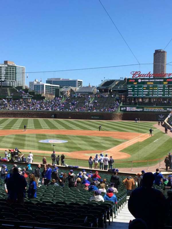 Wrigley Field, section: 215, row: 7, seat: 12