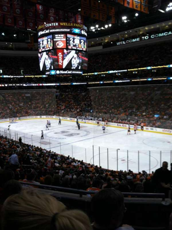 Wells Fargo Center, section: CB16, row: 4, seat: 20