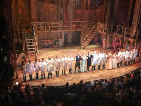 Richard Rodgers Theatre, section: Mezzanine, row: A, seat: 9