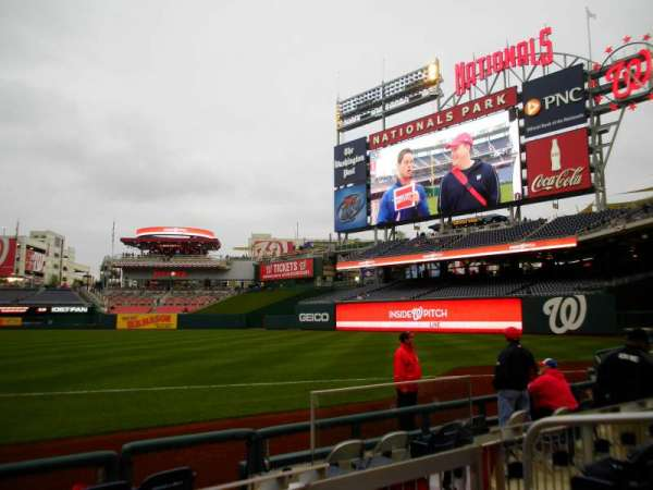Nationals Park, section: 133, row: F, seat: 4