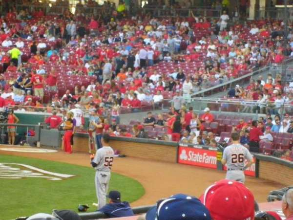 Great American Ball Park, section: 116, row: N