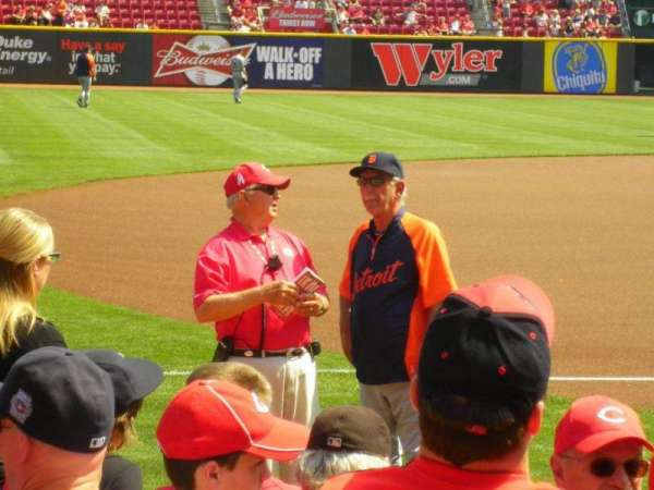 Great American Ball Park, section: 114, row: H, seat: 9