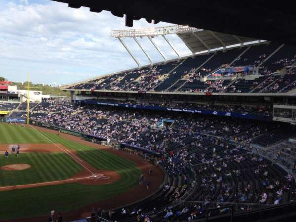 Kauffman Stadium, section: 308, row: F, seat: 3