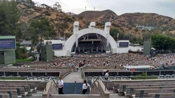 Hollywood Bowl, section: P1, row: 9, seat: 2