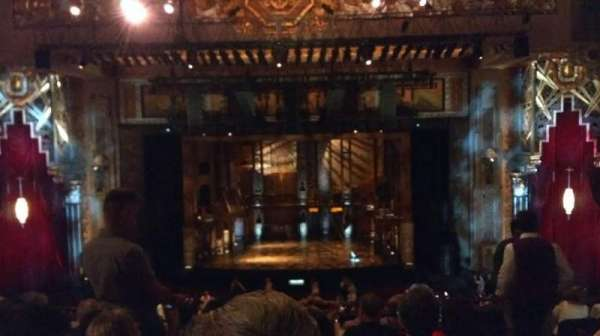 Hollywood Pantages Theatre, section: Mezz Center, row: F, seat: 102