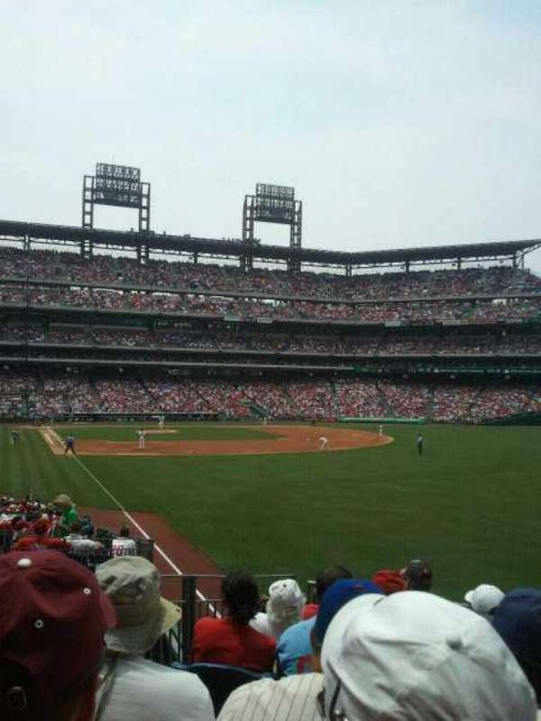 Citizens Bank Park, section: 107, row: 10, seat: 14