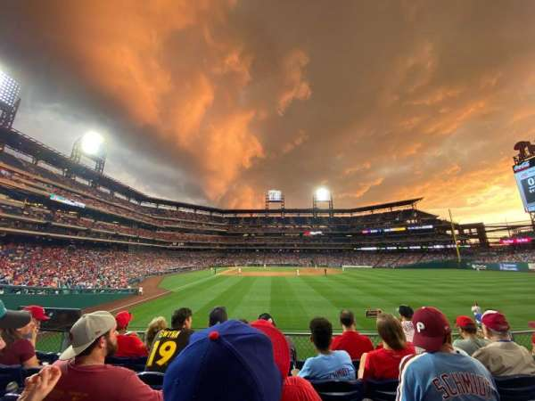 Citizens Bank Park, section: 105, row: 5, seat: 14