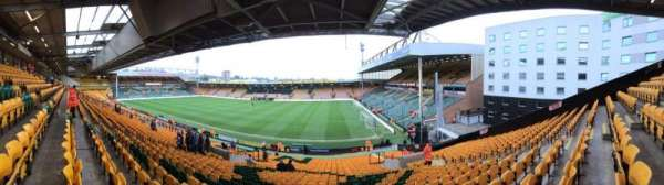 Carrow Road, section: G, row: GG, seat: 0026