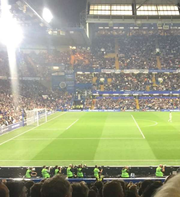 Stamford Bridge , section: West stand lower 8, row: 31, seat: 190