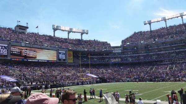 M&T Bank Stadium, section: 100, row: 6, seat: 18