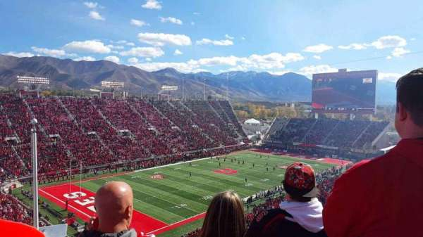 Rice-Eccles Stadium, section: W18, row: 59, seat: 15