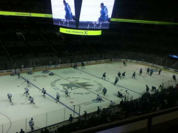 SAP Center, section: 203, row: 2, seat: 9-10