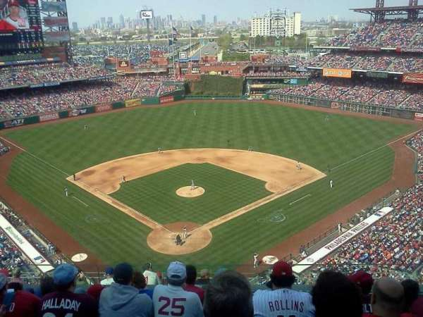 Citizens Bank Park, section: 420, row: 6, seat: 9