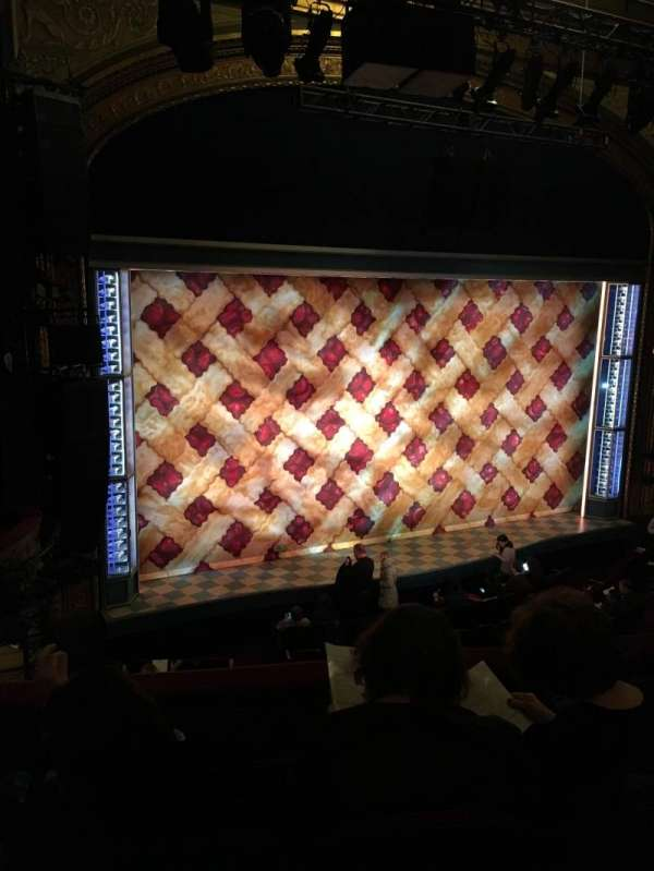 Brooks Atkinson Theatre, section: Front Mezzanine L, row: D, seat: 15