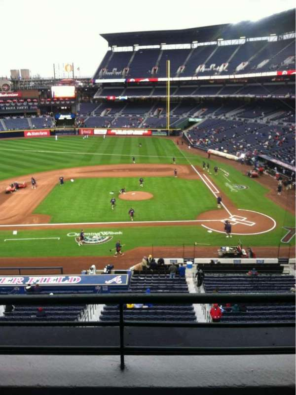 Turner Field, section: 310, row: 2, seat: 105