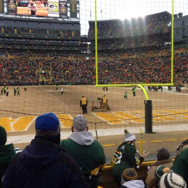 Lambeau Field, section: 101, row: 7, seat: 13