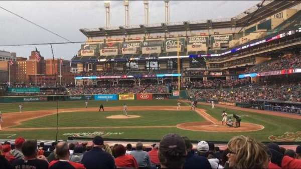 Progressive Field, section: 158, row: W, seat: 12