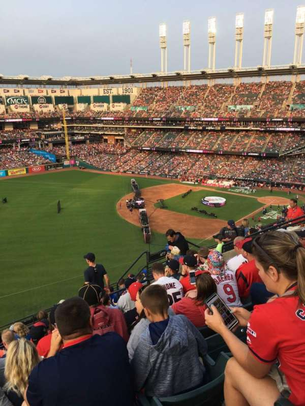 Progressive Field, section: 577, row: H, seat: 12