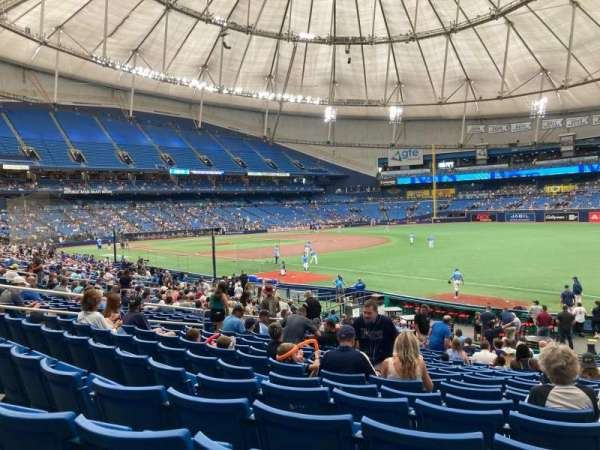 Tropicana Field, section: 132, row: DD, seat: 16