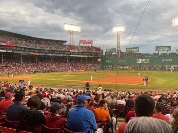 Fenway Park, section: Loge Box 107, row: GG, seat: 4