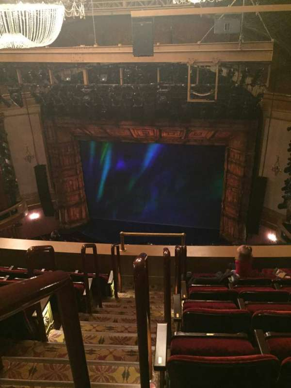 St. James Theatre, section: Balcony R, row: F, seat: 2