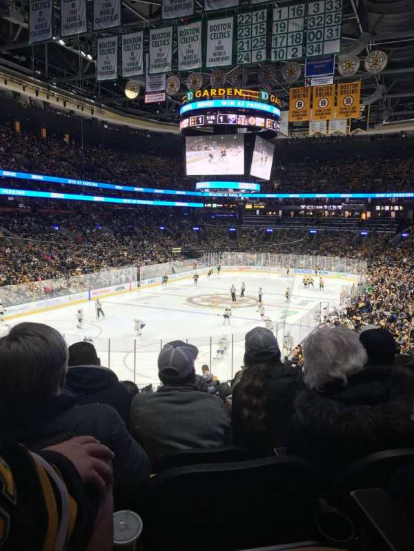 TD Garden, section: Loge 5, row: 26, seat: 17