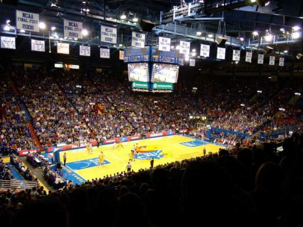 Allen Fieldhouse, section: 20-21