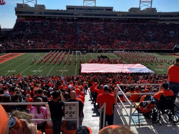 Boone Pickens Stadium, section: 332, row: 4, seat: 1