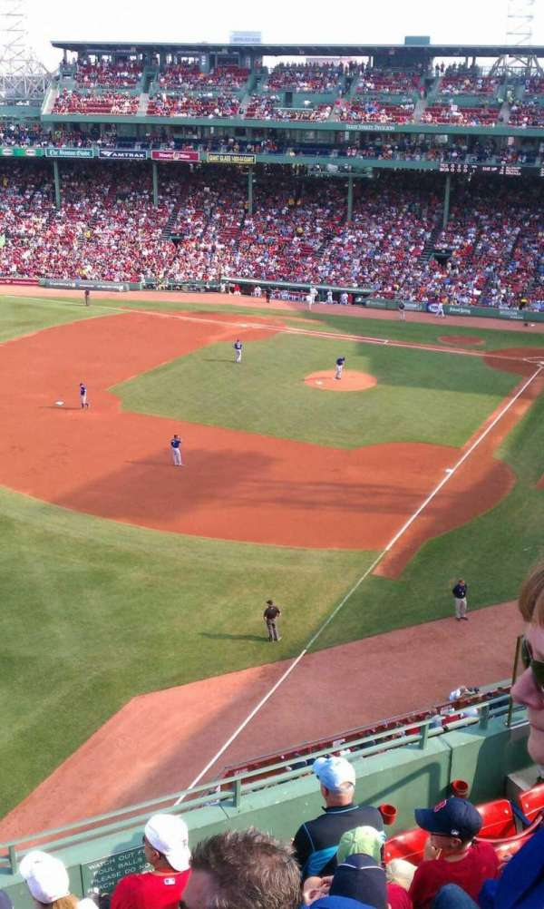 Fenway Park, section: Pavilion Box 18, row: F, seat: 7