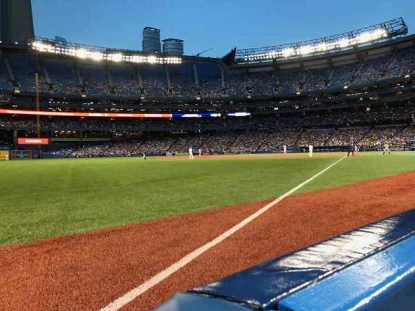 Rogers Centre, section: 130DL, row: 1, seat: 1